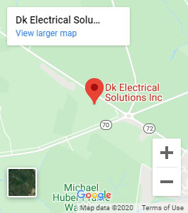 DK Elecrical Solutions Inc. location map - Electrician in Southampton, NJ